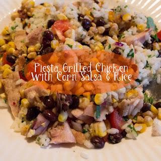 Fiesta Grilled Chicken With Corn Salsa & Rice