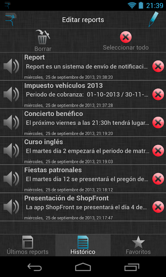 Xàtiva - Report- screenshot