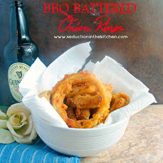 BBQ Battered Onion Rings.