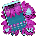 Wooden Pink Flower Theme icon