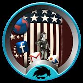 American GO Launcher Theme