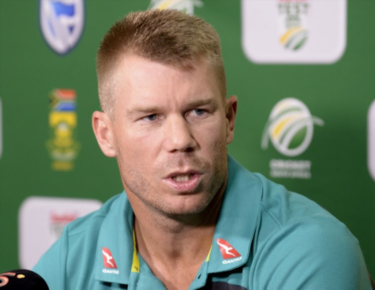 David Warner of Australia during day 1 of the 1st Sunfoil Test match between South Africa and Australia at Sahara Stadium Kingsmead on March 01, 2018 in Durban.