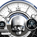 White Skull Watch Face icon