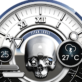 White Skull Watch Face