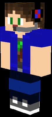 É uma representação minha se eu fosse uma skin do minecraft e eu gostei bastante do resultado final