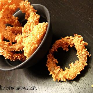 Homemade Crispy Onion Rings – #glutenfree #vegan.