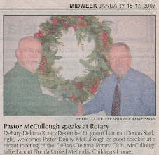 Photo: Pastor Denny McCullough and Dennis Stark