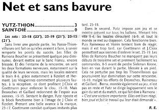 Photo: 06-03-2011 Yutz-Thionville garde espoir pour le maintien en battant Saint-Dié 3-0
