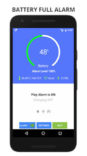 Battery Full Alarm and Battery Low Alarm - No Ads Screenshot