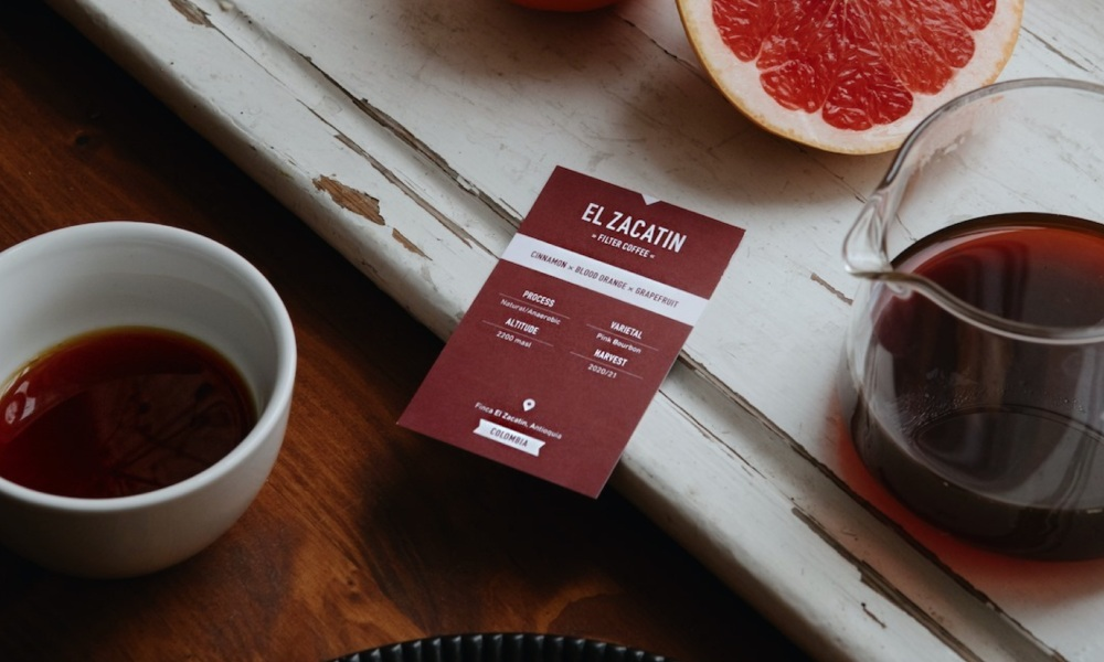 tasting cards for specialty coffee