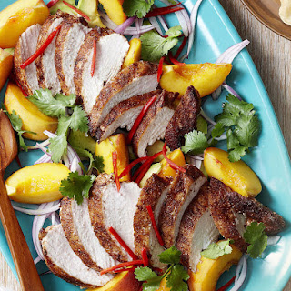 Curried Chicken and Peach Salad.