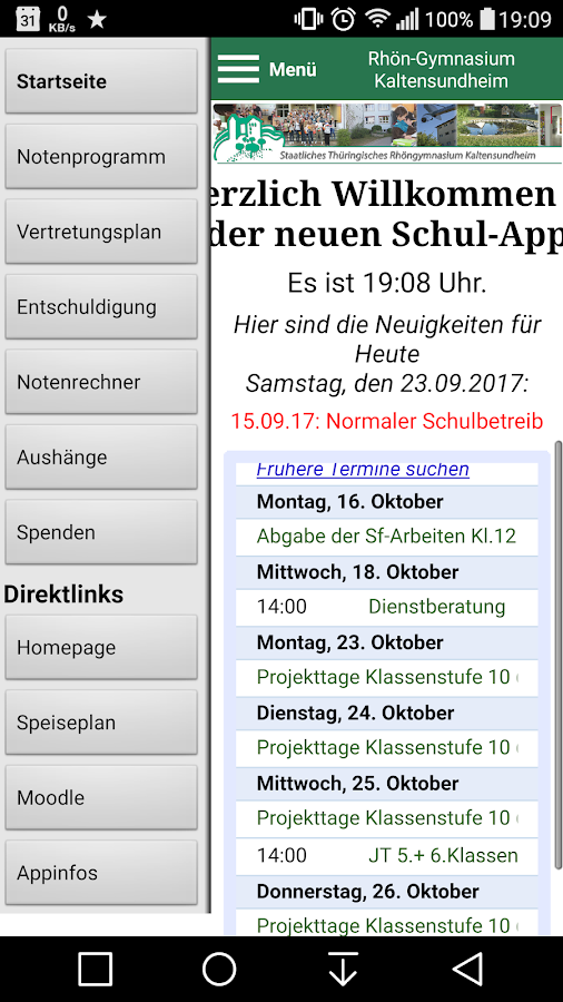STRG-Schulapp- screenshot