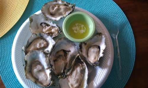 "Click Here for Recipe: Father's Day ""Oyster Fest"" ""4 dozen bed raised..."