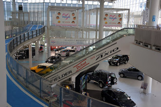 Photo: ....to our stop at the Toyota Showroom