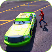 Superhero Ultimate Cars Highway lightning Racing