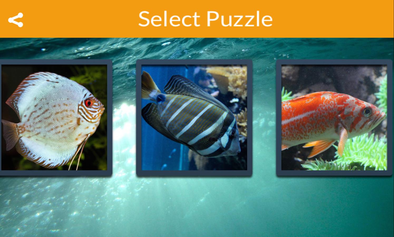 Freshwater aquarium fish games - Tropical Fish Puzzle Games Screenshot