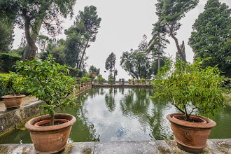 Photo: The Fishing Ponds (Peschiere) in Villa d'Este in Tivoli, Lazio, Italy
