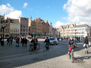 Photo: The Market Square, liberally surrounded by restaurants. It's been used as a market since 958.