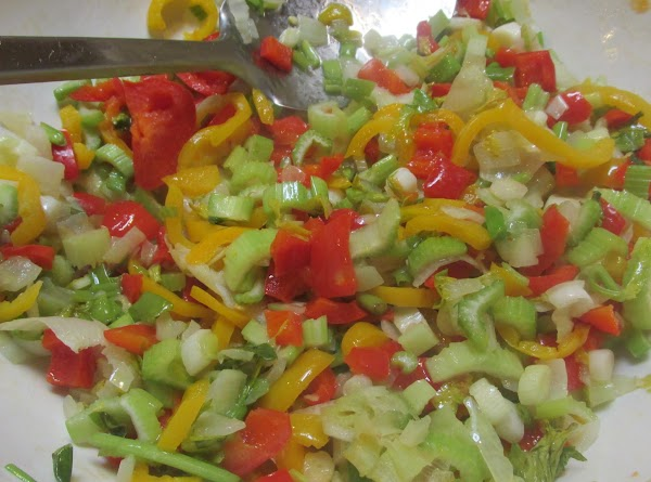 Stir to blend vegetables together. Remove from microwave and add both soups, sour cream,...