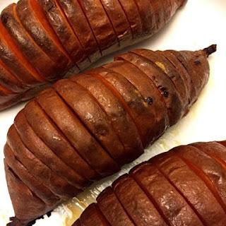 Hassleback (Accordion) Baked Sweet Potatoes Recipe (Paleo)