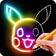 Learn to Draw Glow Cartoon apk