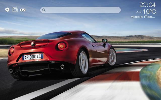 Alfa Romeo HD new free tab theme