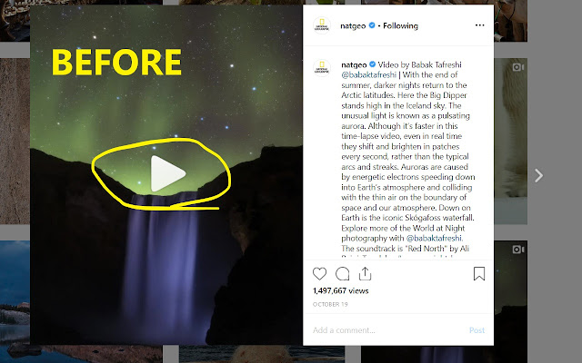 Controls for Instagram Videos