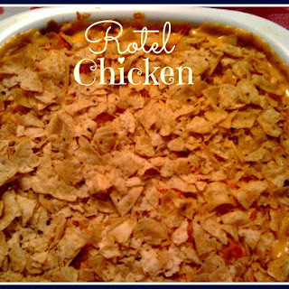 Rotel Chicken Pasta Bake!