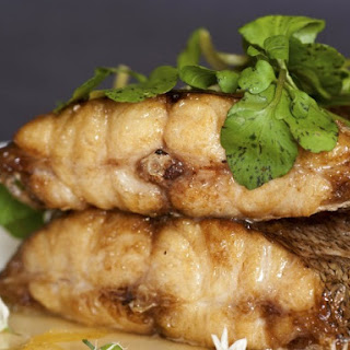 Halibut With Ginger And Soy.