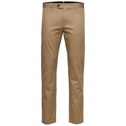 Selected Slim Carlo Pants Sepia