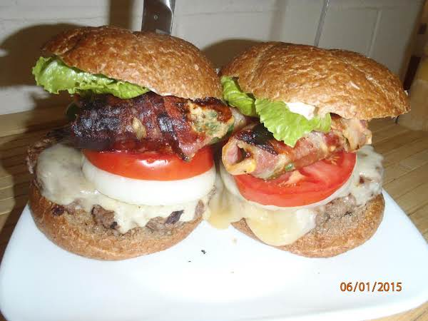 Bacon Wrapped Jalepeno Stuffed With Cheese Burgers Recipe