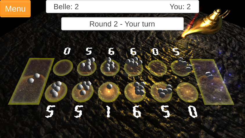 Kalah/Mancala Board Game Screenshot