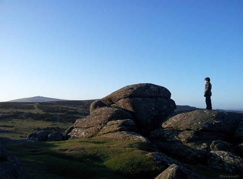 Photo: Dartmoor, yesterday at dawn Chilly but! Arthur, here, Tabitha and I 'wild' camped there this weekend.