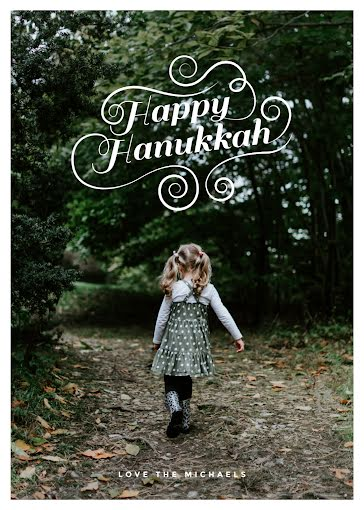 Florid Happy Hanukkah - Hanukkah Template
