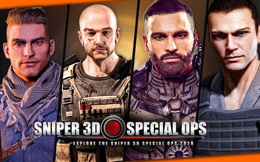 Code Triche New Sniper Shooting 2020 u2013 Shooting Games Free APK MOD screenshots 1