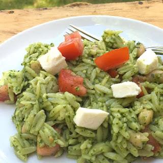 Caprese Orzo Salad with Pesto