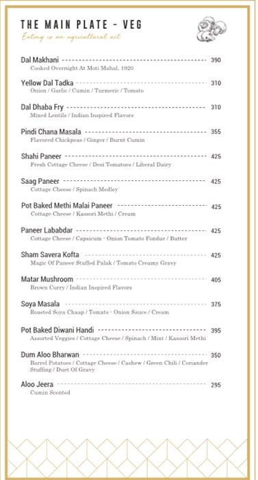 Moti Mahal Delux menu 11