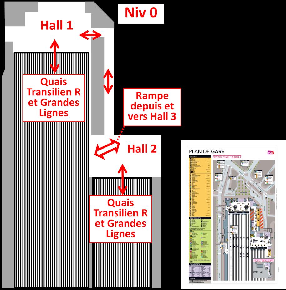 plan niveau 0 Gare de Lyon