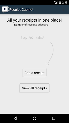 Cabinet:Digital receipt keeper