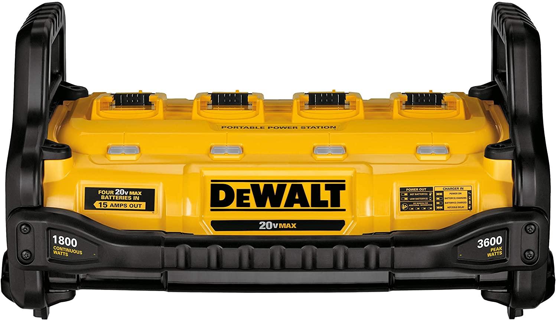 dewalt flexvolt batteries and powerstation for quiet power while camping