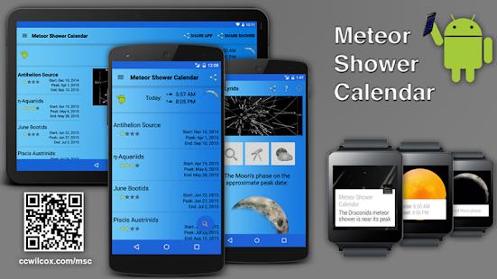 Meteor Shower Calendar - screenshot thumbnail