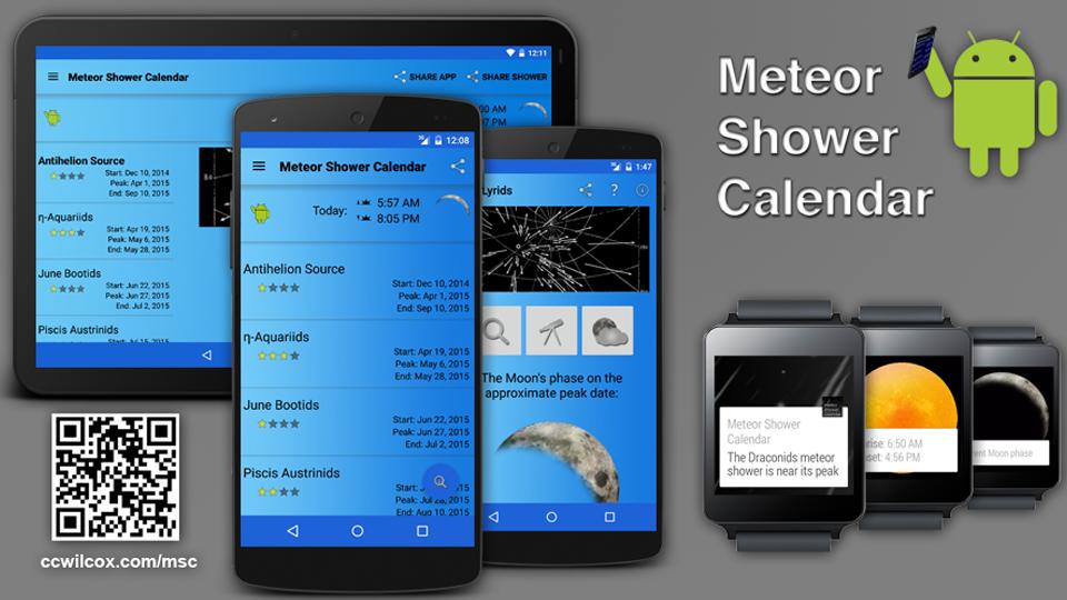 Meteor Shower Calendar - screenshot