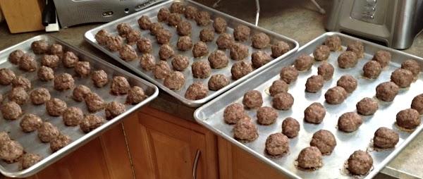 Rainy Day Meat Balls (9 Dozen) Recipe