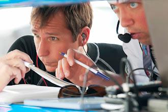Photo: Driver Wolf Henzler and Sebestian exchanging feedback with the engineers.  #teamfalken #porsche #gt3 #americanlemans #roadamerica