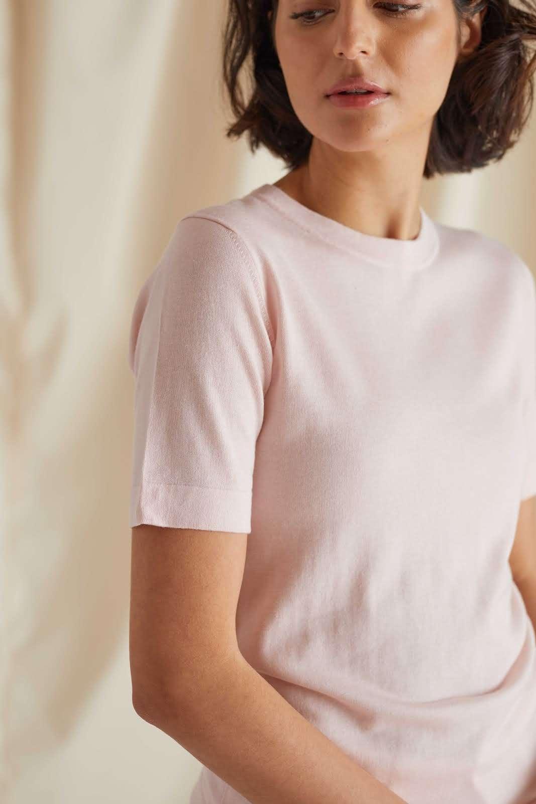 Fine Knit T-shirt