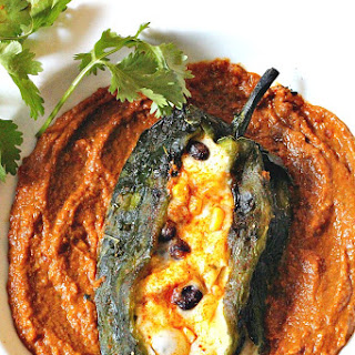 Chile Poblano with Pumpkin Mole.