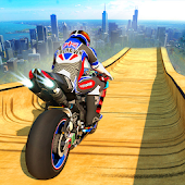 Vertical Mega Ramp Bike Stunt Racing