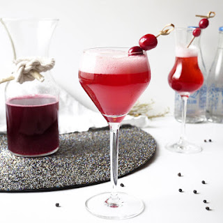 Tangy Cranberry-Black Pepper Shrub Cocktail.