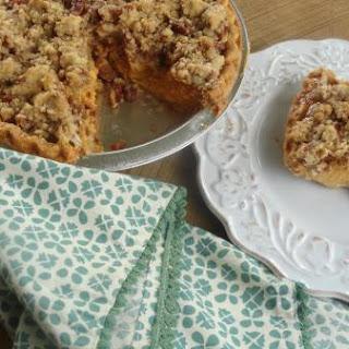 Pumpkin Pie with Cinnamon-Pecan Topping.