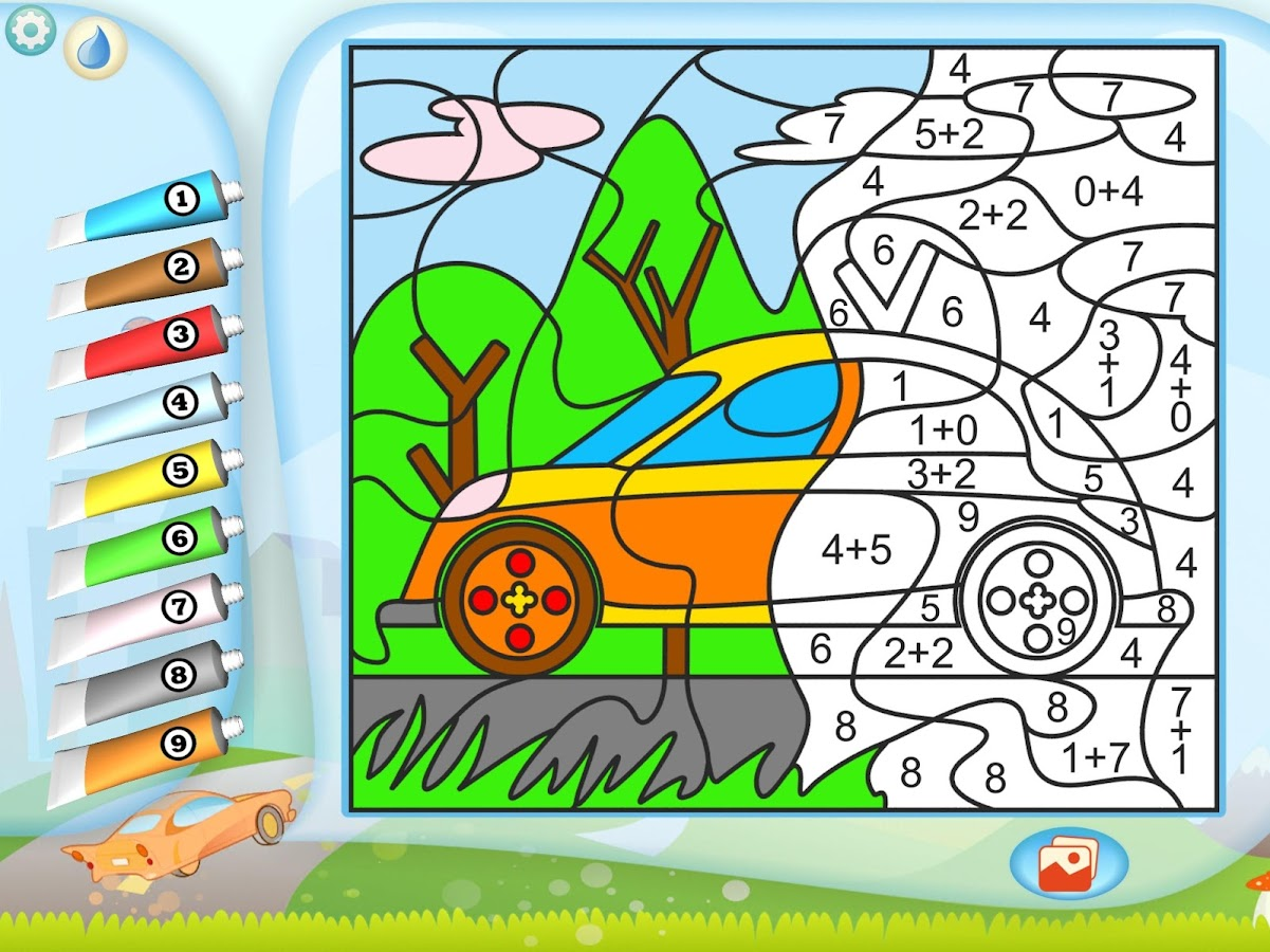 Color by Numbers - Cars- screenshot